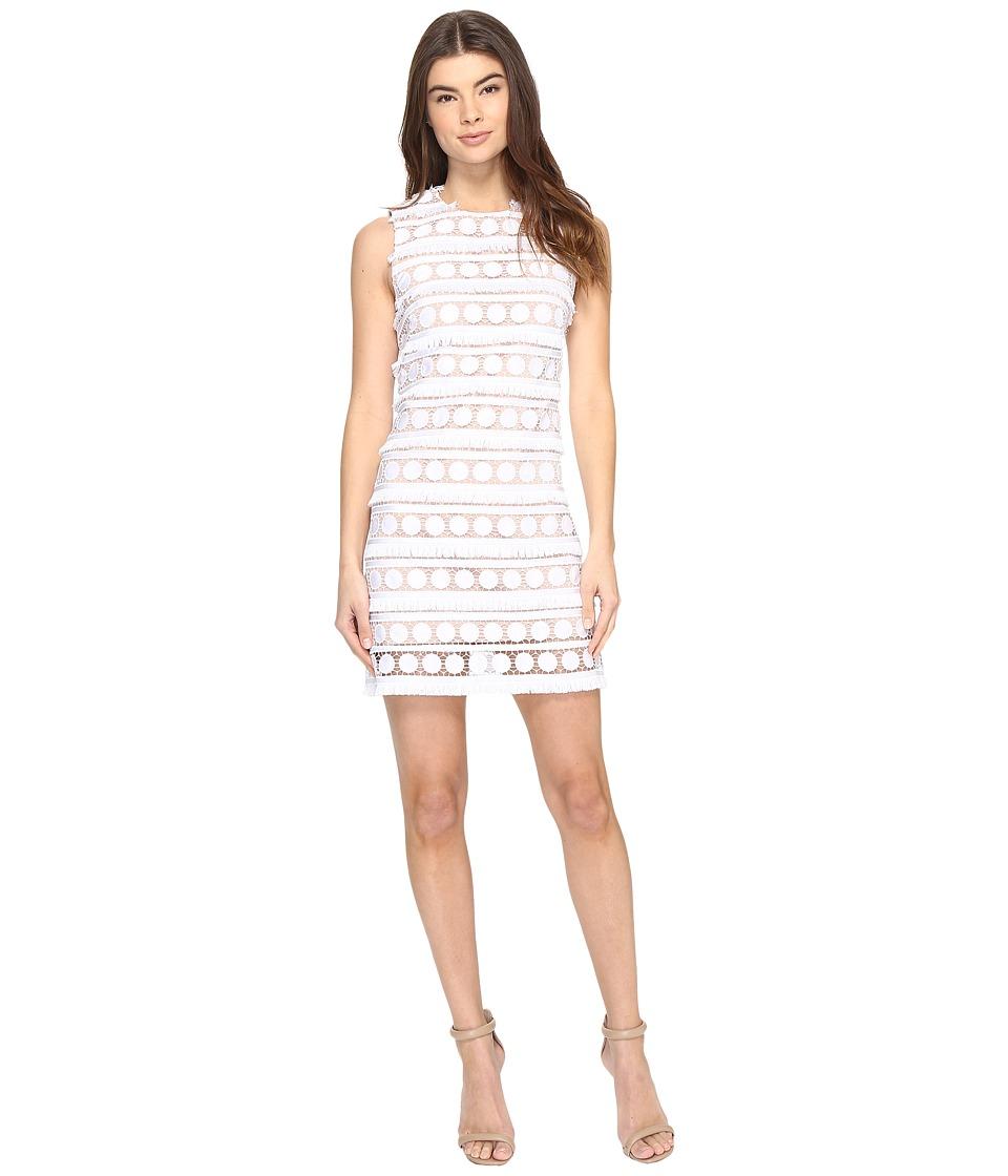 Nicole Miller - Garden Fringe Dot Mini (White/Blush) Women's Dress