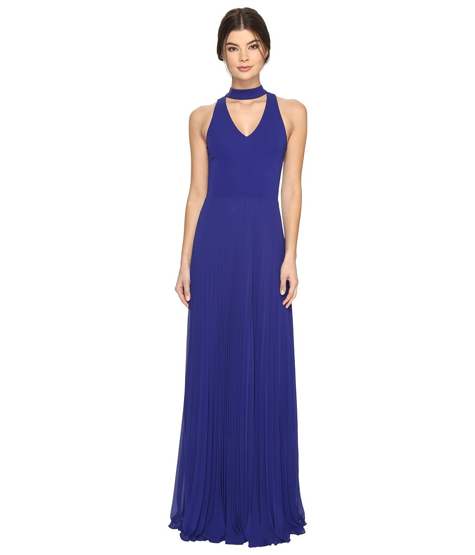 Nicole Miller - Blair Pleated Gown (Royal) Women's Dress