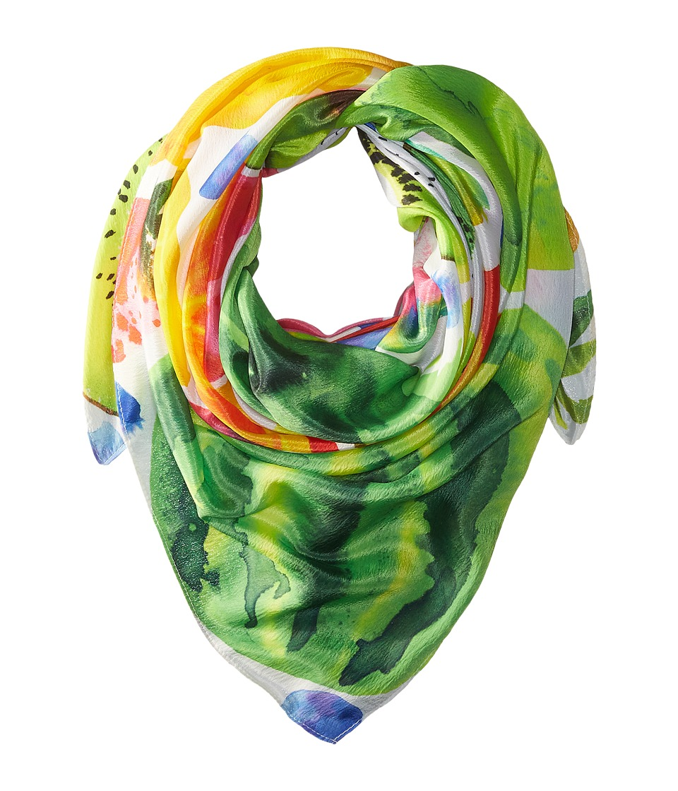Echo Design - Tutti Frutti Square Pareo Scarf (White) Scarves