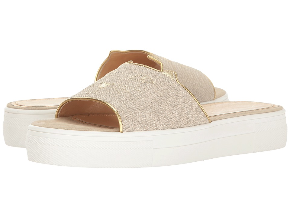 Charlotte Olympia Kitty Pool Sliders (Grey Canvas) Women