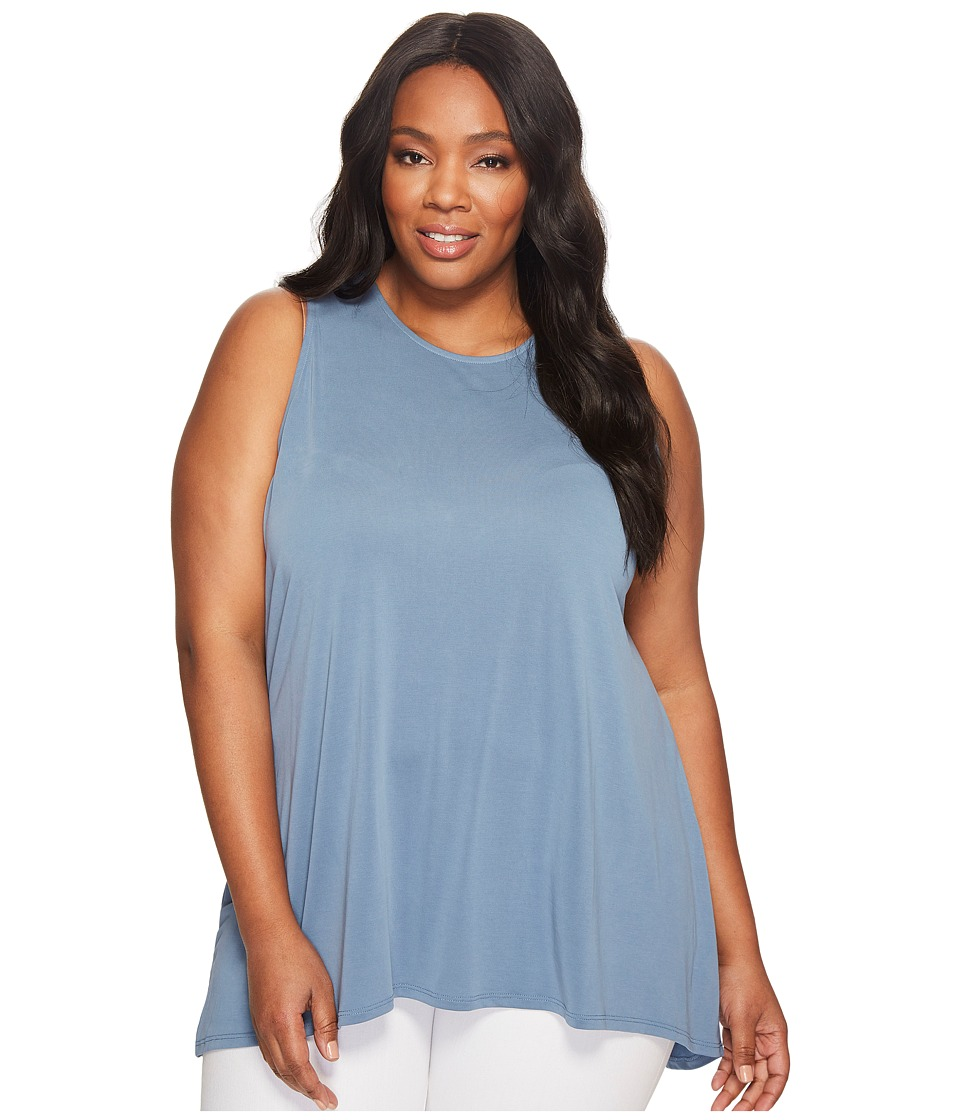 Vince Camuto Specialty Size - Plus Size Sleeveless High-Low Hem Top (Slate Tile) Women's Clothing