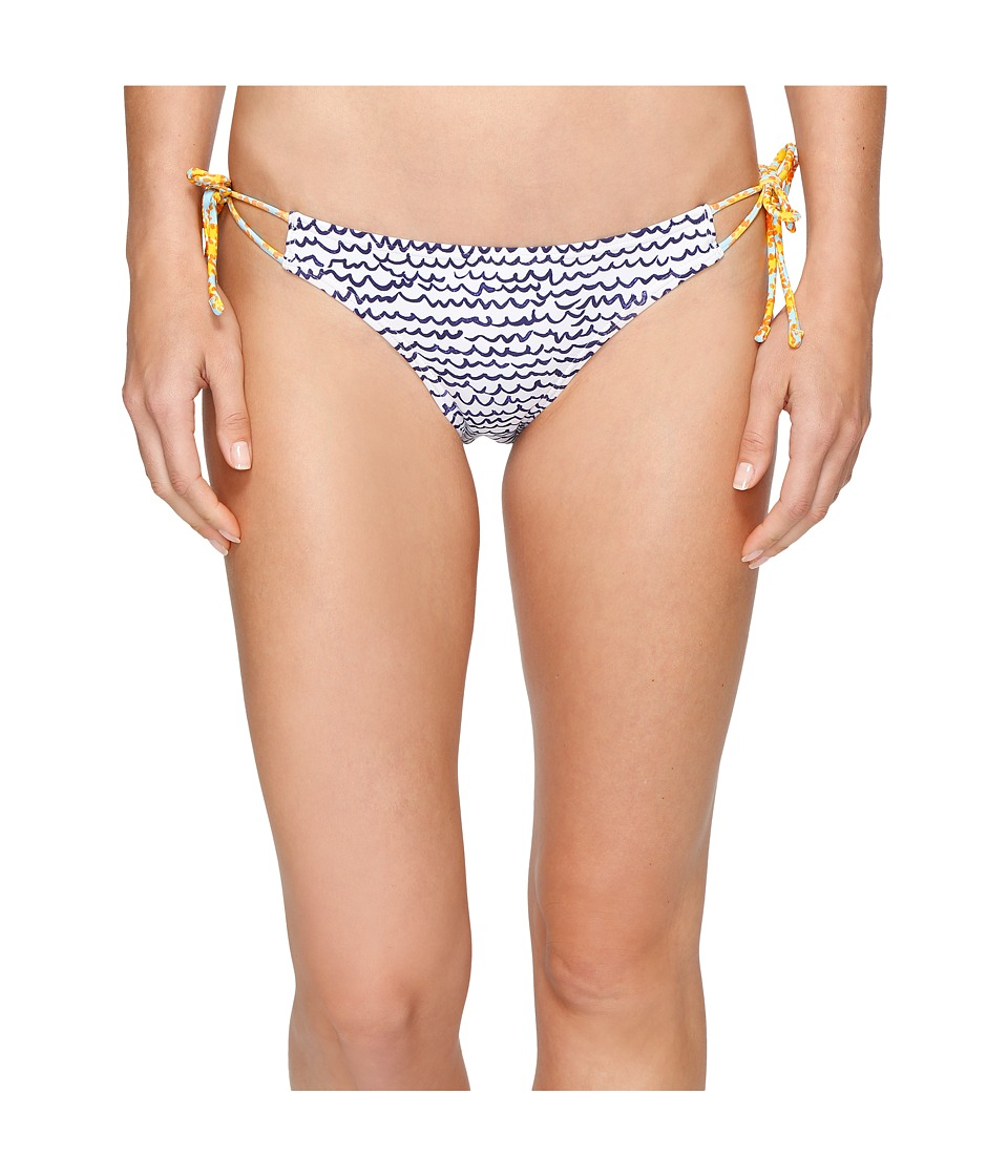 Echo Design - Fleur De La Mer String Bikini Bottom (White) Women's Swimwear