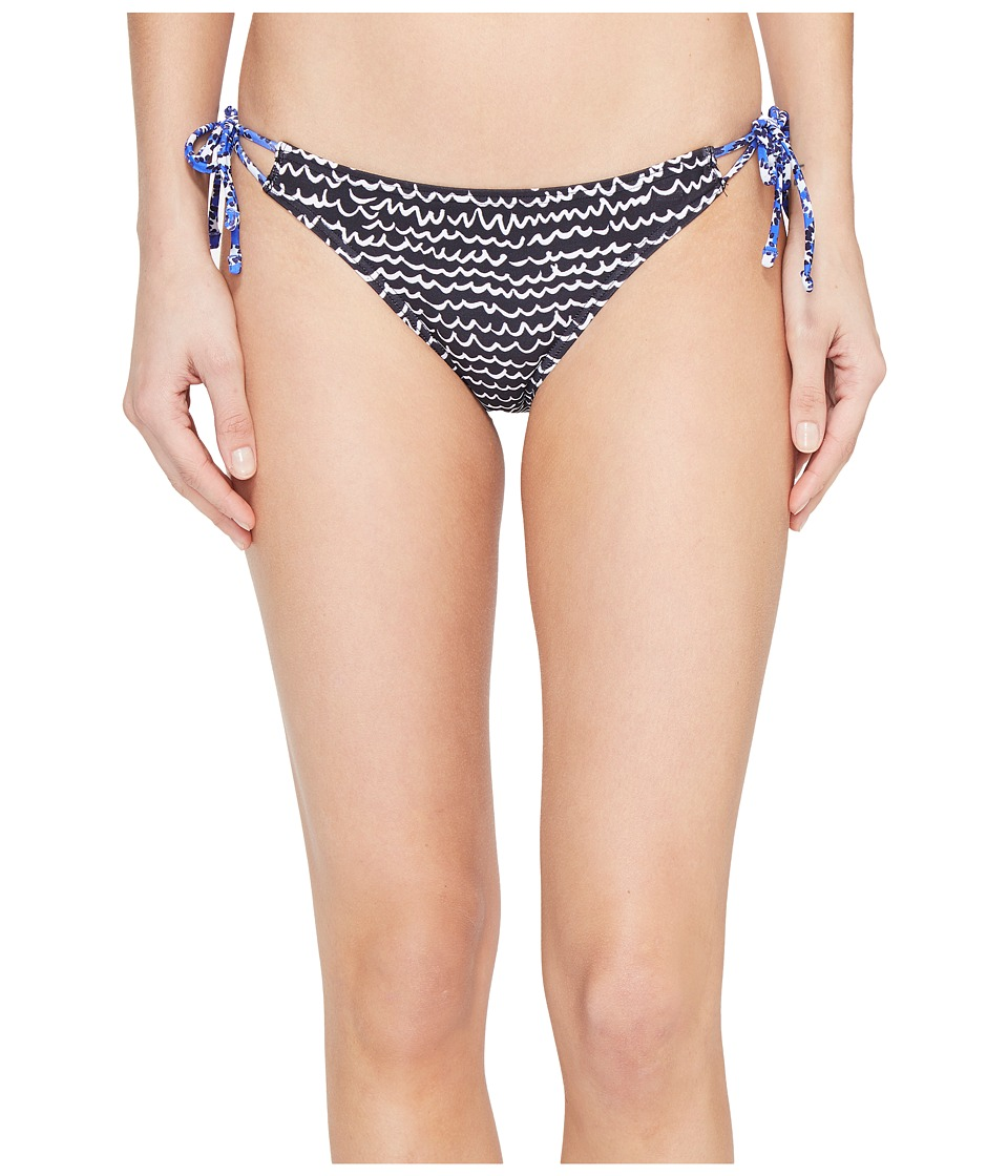 Echo Design - Fleur De La Mer String Bikini Bottom (Black) Women's Swimwear