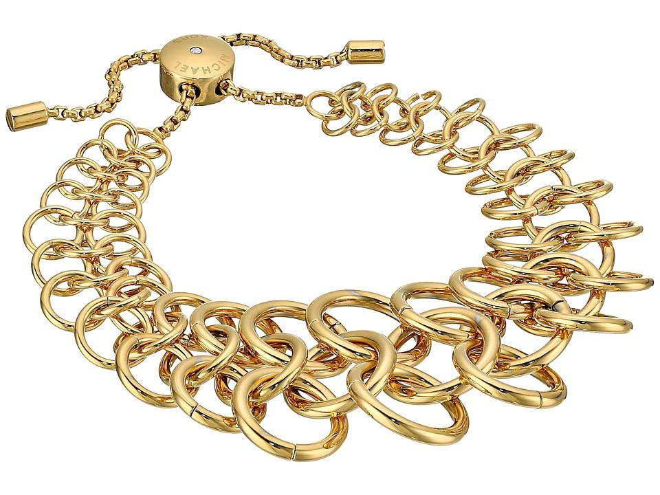 Michael Kors - Tone Chainmail Slider Bracelet (Gold) Bracelet