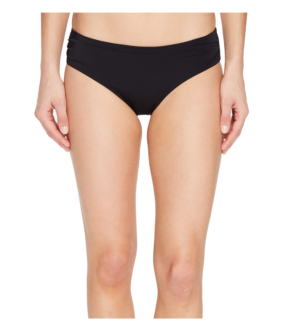Echo Design - Solid Rouched Bikini Bottom (Black) Women's Swimwear