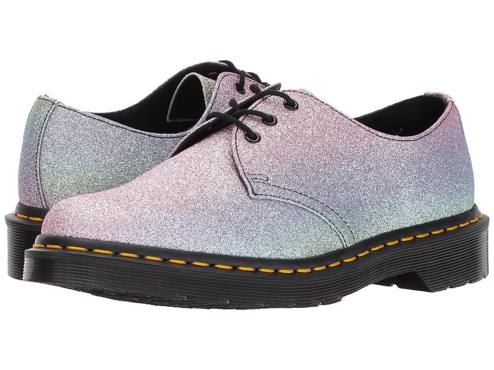 Dr. Martens 1461 Rainbow Glitter 3-Eye Shoe (Multi Glitter PU) Women