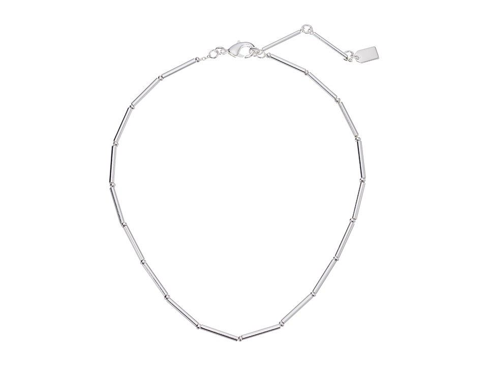 LAUREN Ralph Lauren - 14 Metal Tube Choker Necklace (Silver) Necklace