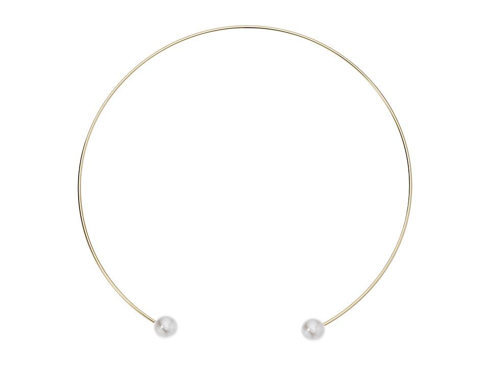 LAUREN Ralph Lauren - 14 Open Pearl Choker Necklace (Gold/Pearl) Necklace