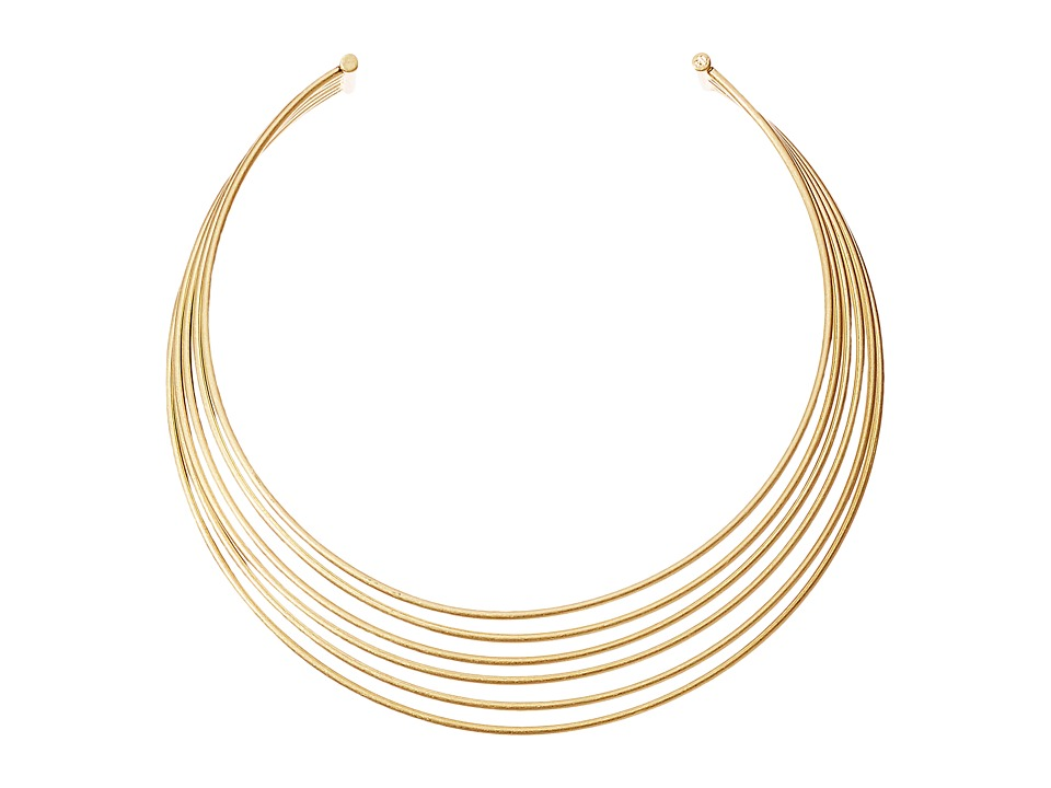 LAUREN Ralph Lauren - 12 Open Hard Wire Choker Necklace (Gold) Necklace
