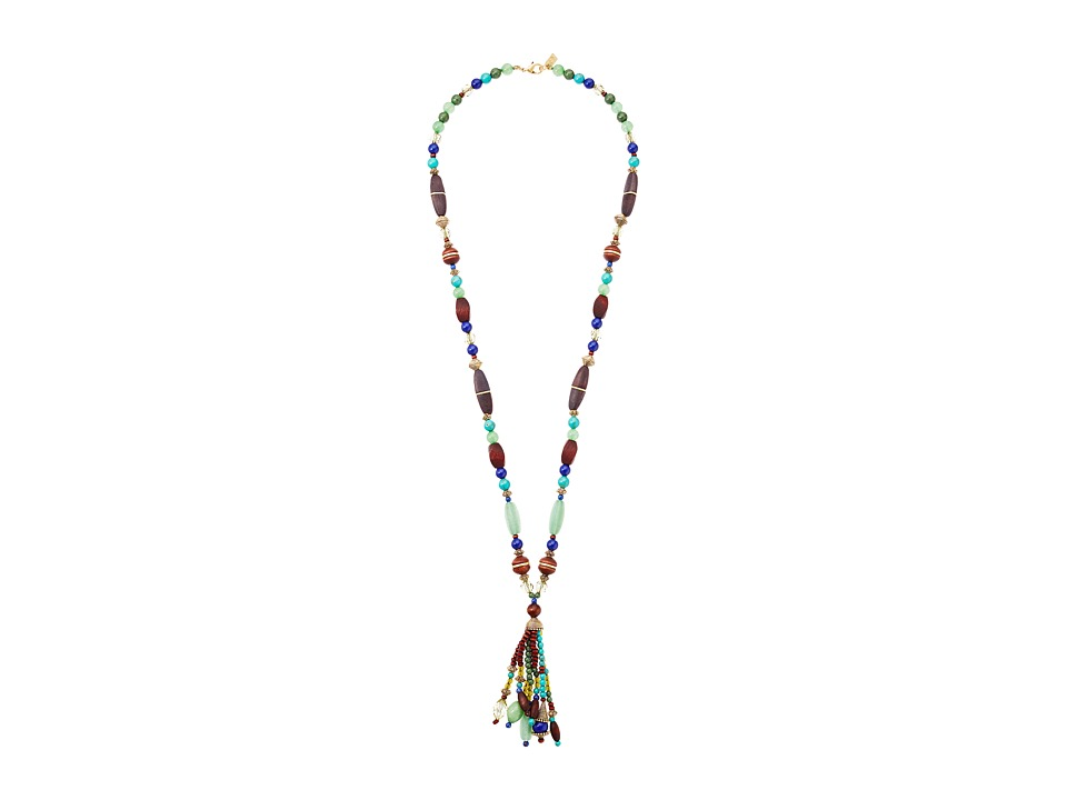 LAUREN Ralph Lauren - 30 Long Tassel Necklace (Gold/Multi) Necklace