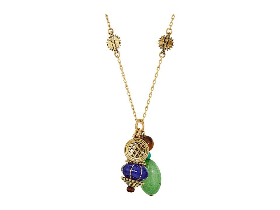 LAUREN Ralph Lauren - 34 Charmy Pendant Necklace (Gold/Multi) Necklace