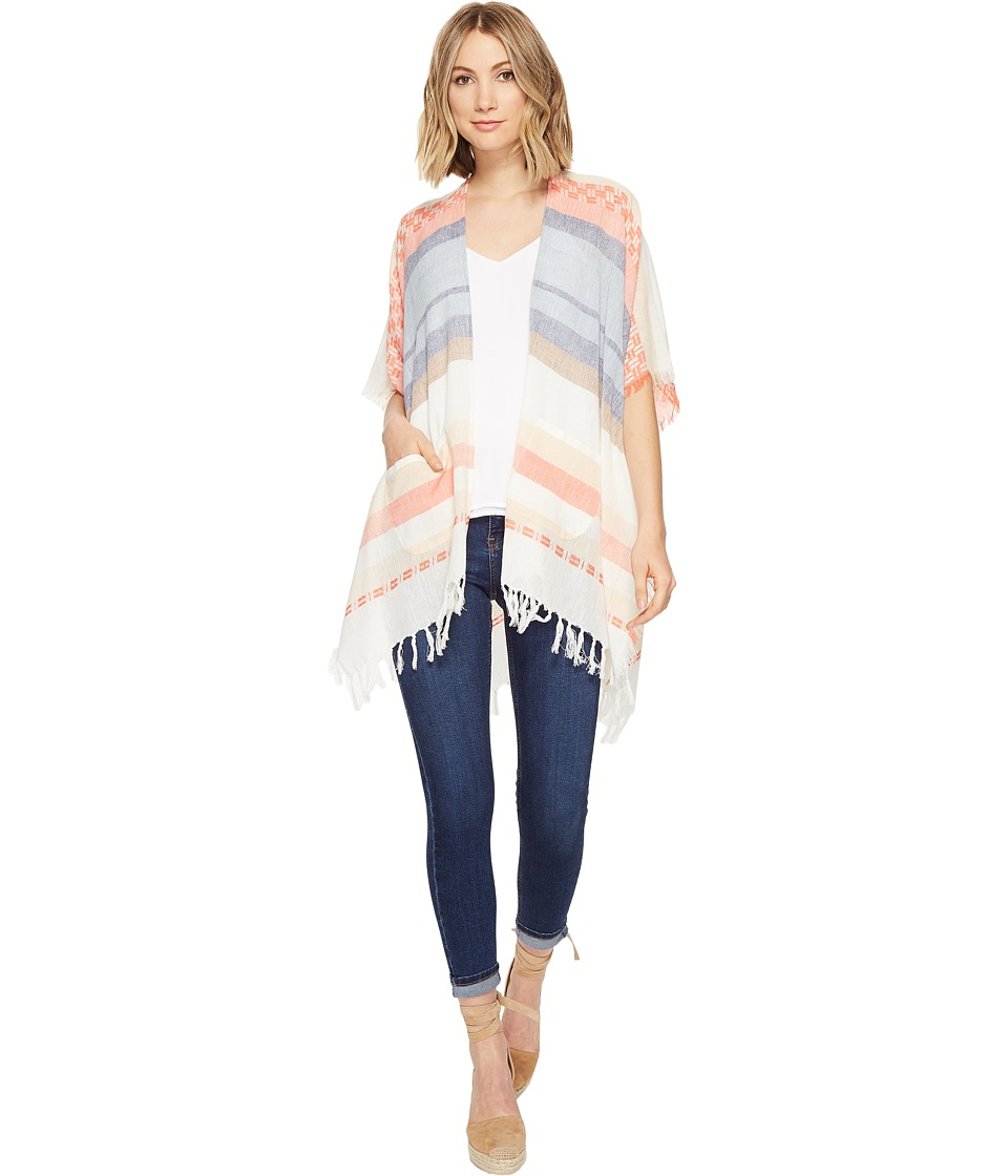 Echo Design - Blanket Stripe Kimono (Multi) Women's Clothing