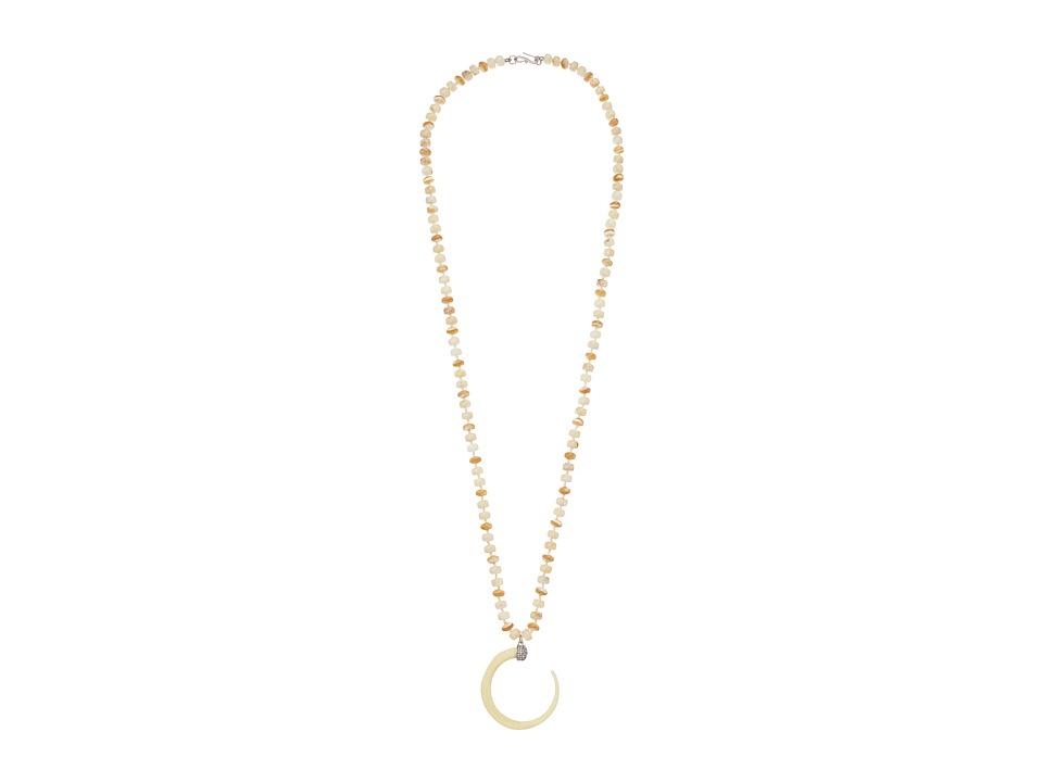 LAUREN Ralph Lauren - Silver and Bone 36 Horn Pendant Necklace (Silver/Multi) Necklace