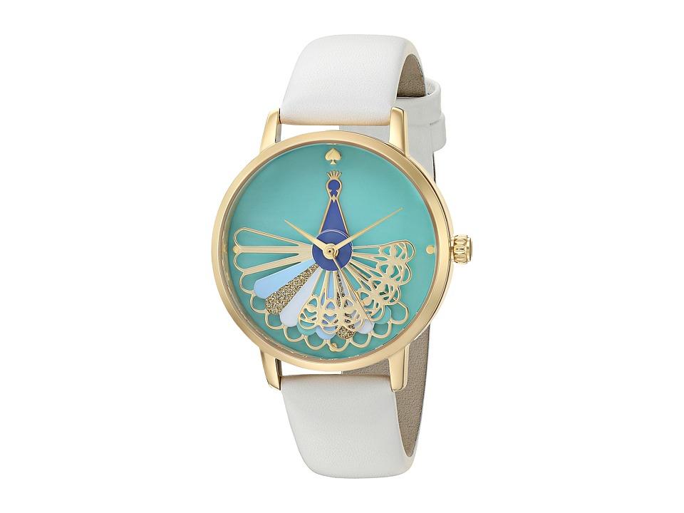 Kate Spade New York - 36mm Metro Watch - KSW1287 (Gold/White) Watches