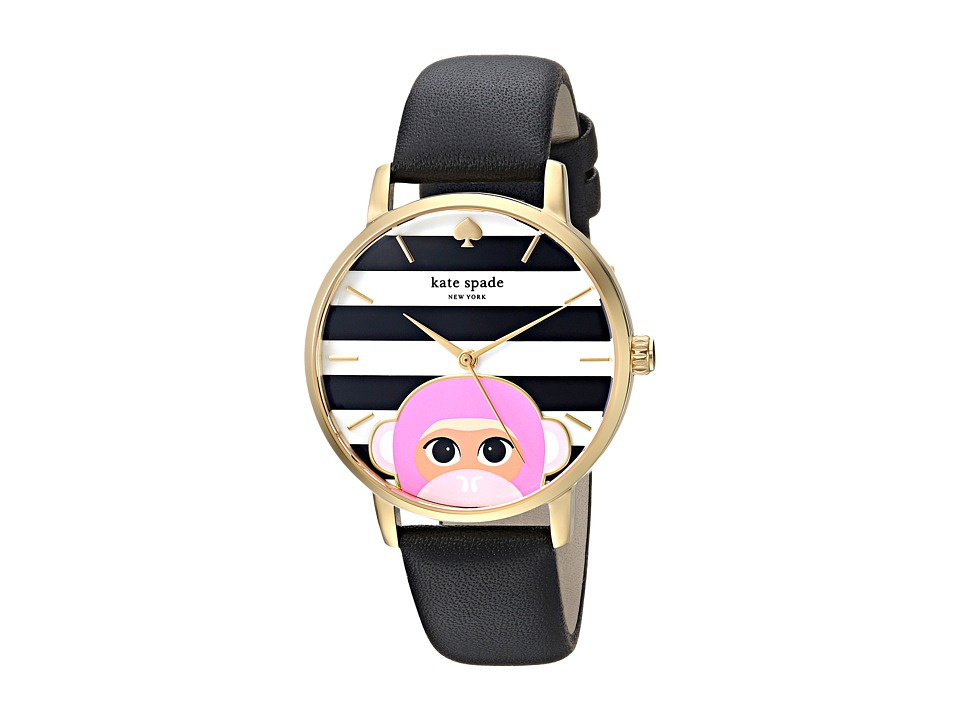 Kate Spade New York - 34mm Metro Watch - KSW1259 (Gold/Black) Watches