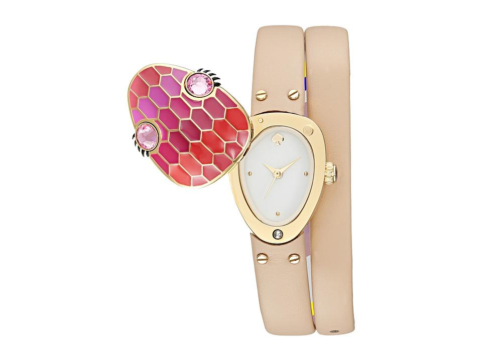 Kate Spade New York - Mini Metro Snake Double Wrap Watch - KSW1274 (Gold/Beige) Watches