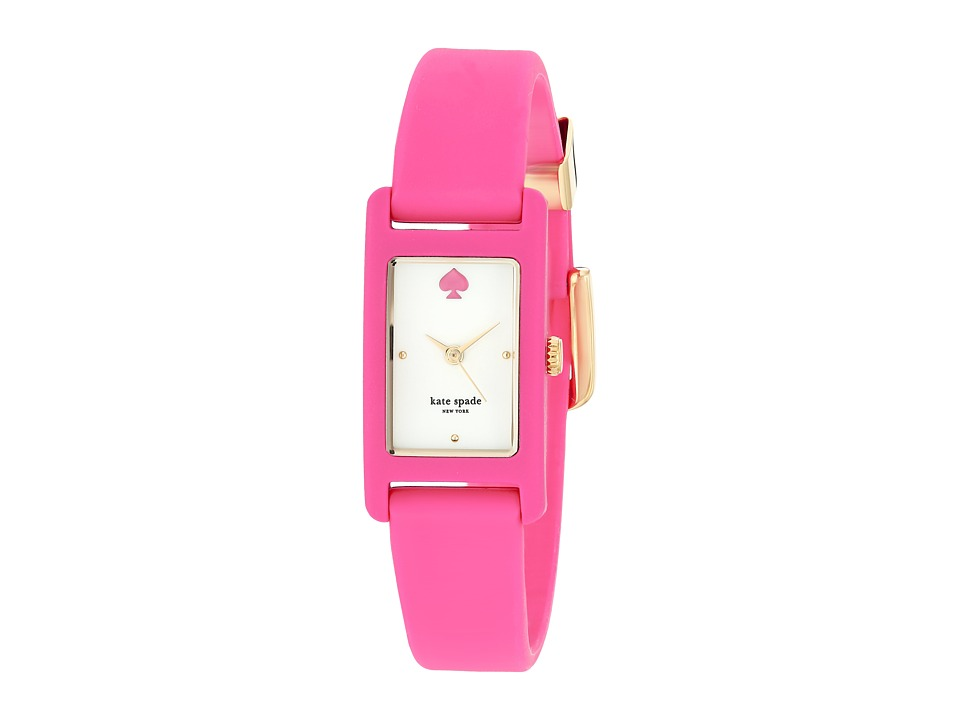 Kate Spade New York - 18 X 25mm Duffy Square Watch - KSW1278 (Pink) Watches