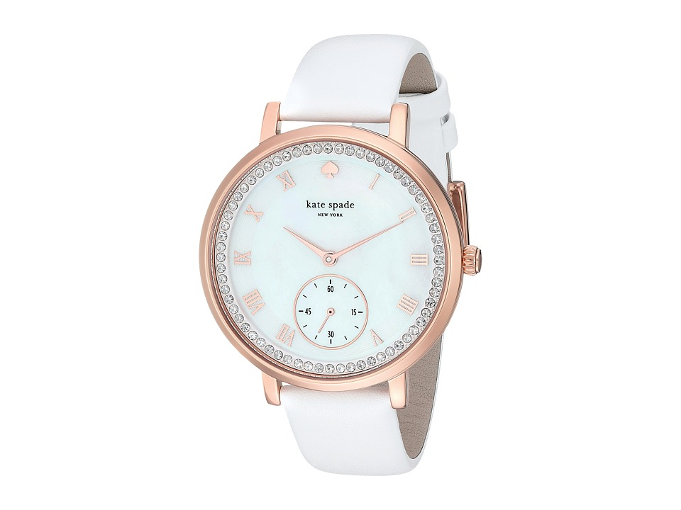 Kate Spade New York - 38mm Monterey Watch - KSW1295 (Rose Gold/White) Watches