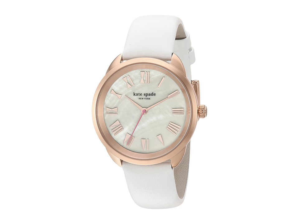 Kate Spade New York - 36mm Crosstown Watch - KSW1283 (Rose Gold/White) Watches