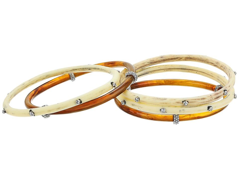 LAUREN Ralph Lauren - Silver and Bone Five Set Multi Bangle Bracelet (Silver/Multi) Bracelet