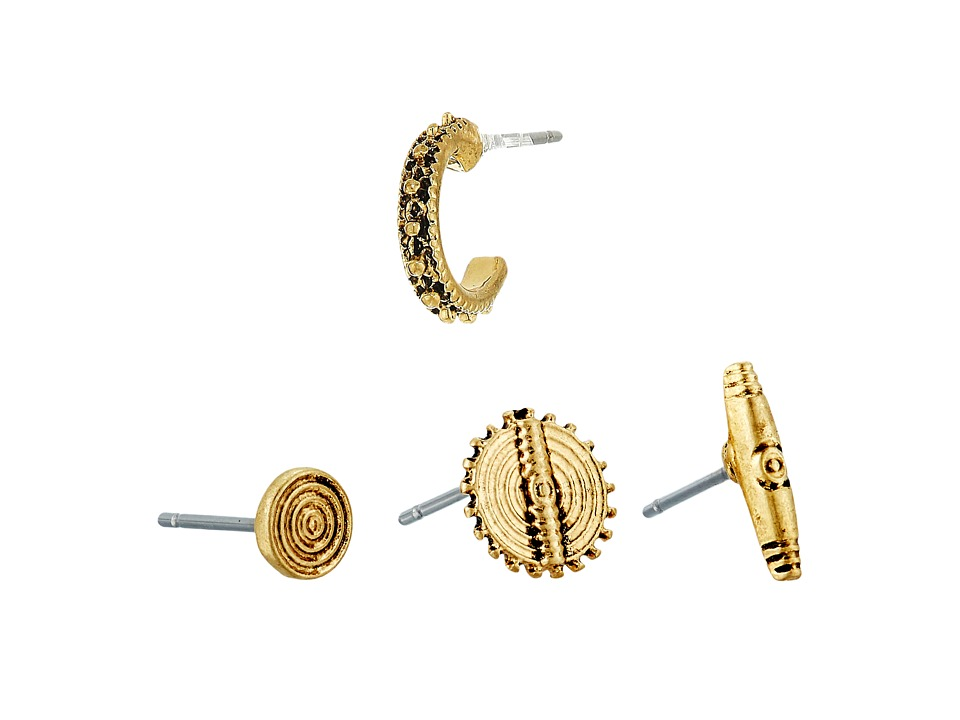 LAUREN Ralph Lauren - Set of 4 Metal Studs Earrings (Gold) Earring