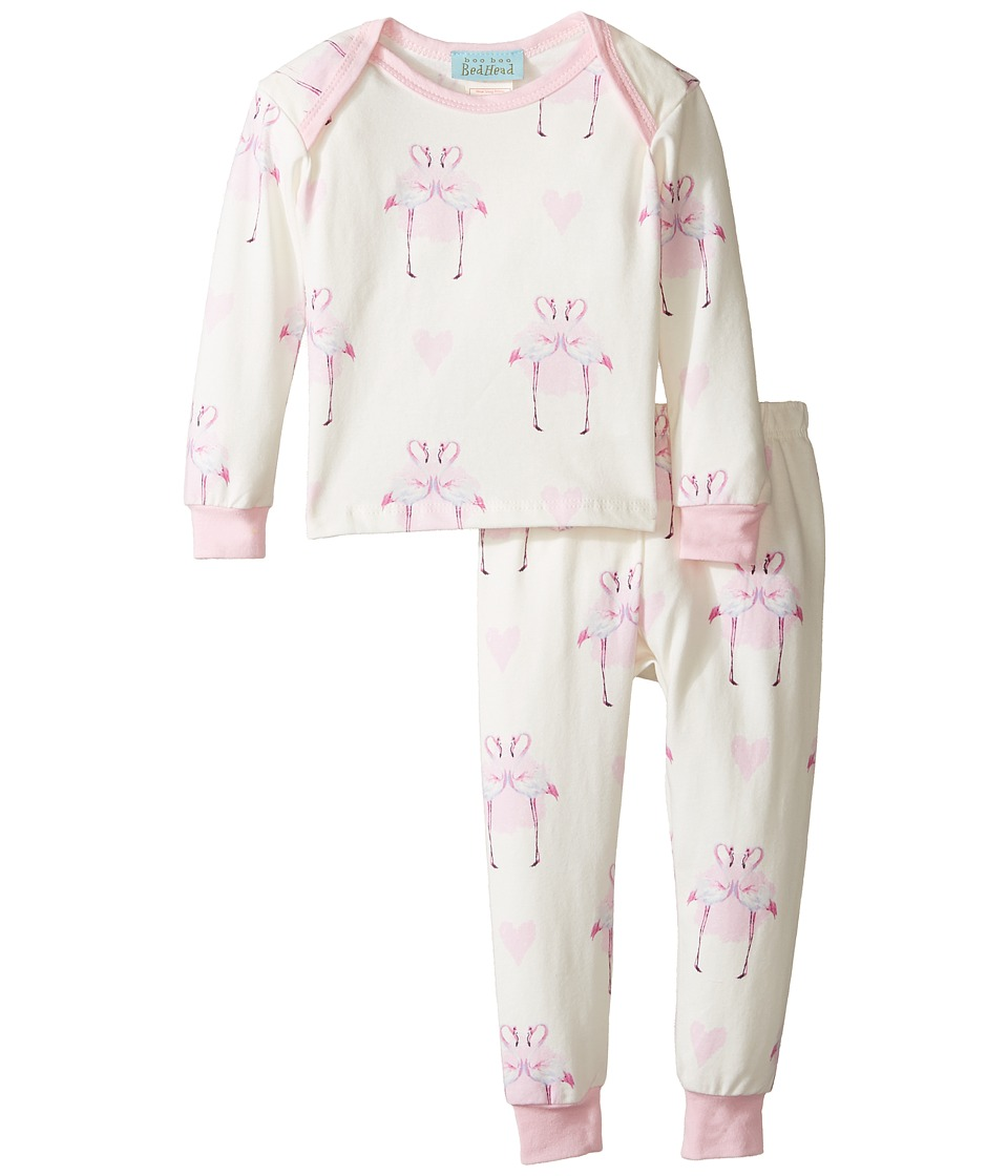 BedHead Kids - Long Sleeve Long Pants Set (Infant) (Flamingo's in Love) Girl's Pajama Sets