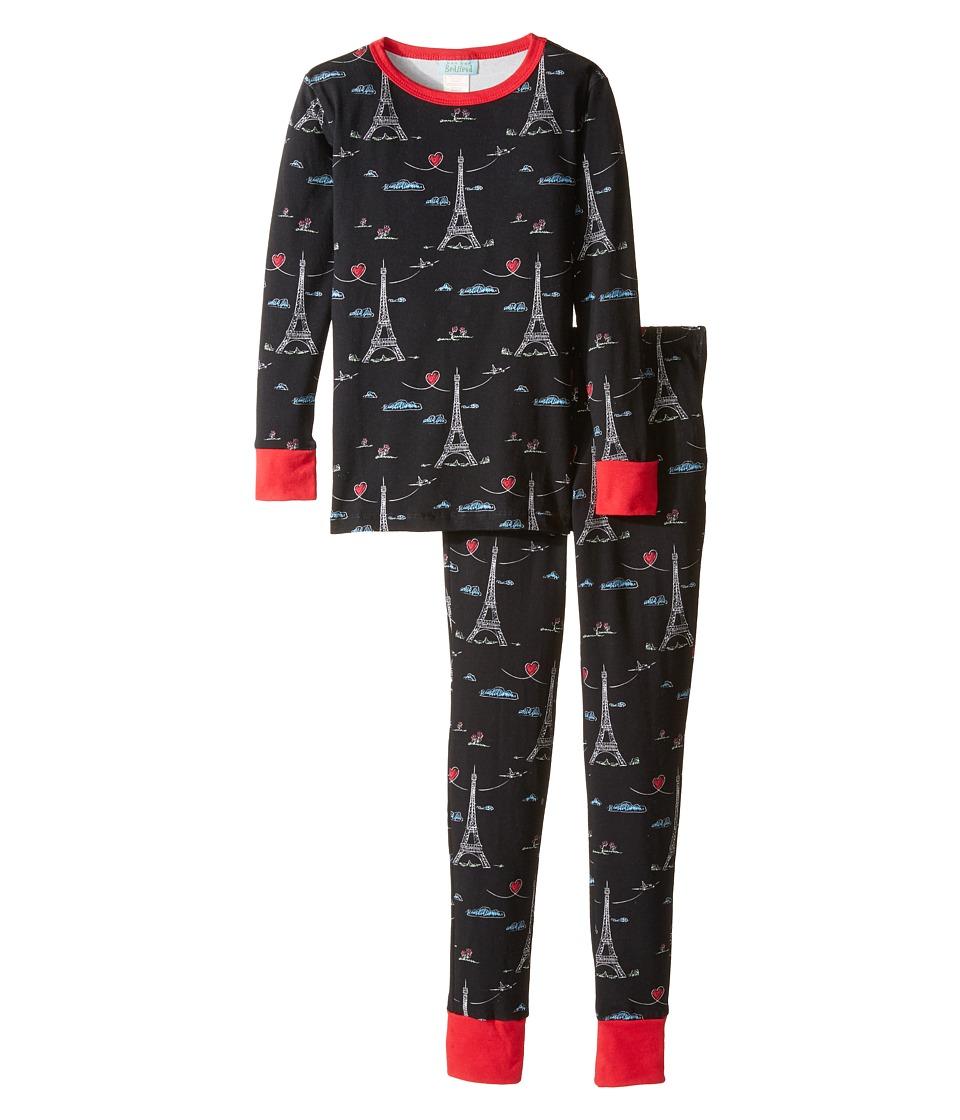 BedHead Kids - Long Sleeve Long Pants Tweens Set (Big Kids) (Sketched Eiffel) Boy's Pajama Sets