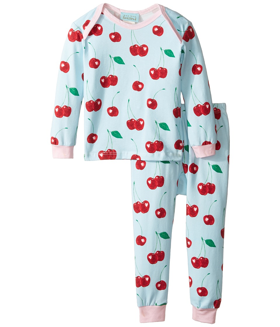 BedHead Kids - Long Sleeve Long Pants Set (Infant) (Cherry Hearts) Girl's Pajama Sets