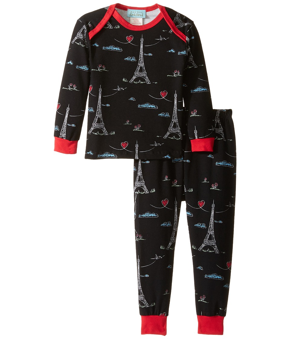 BedHead Kids - Long Sleeve Long Pants Set (Infant) (Sketched Eiffel) Boy's Pajama Sets