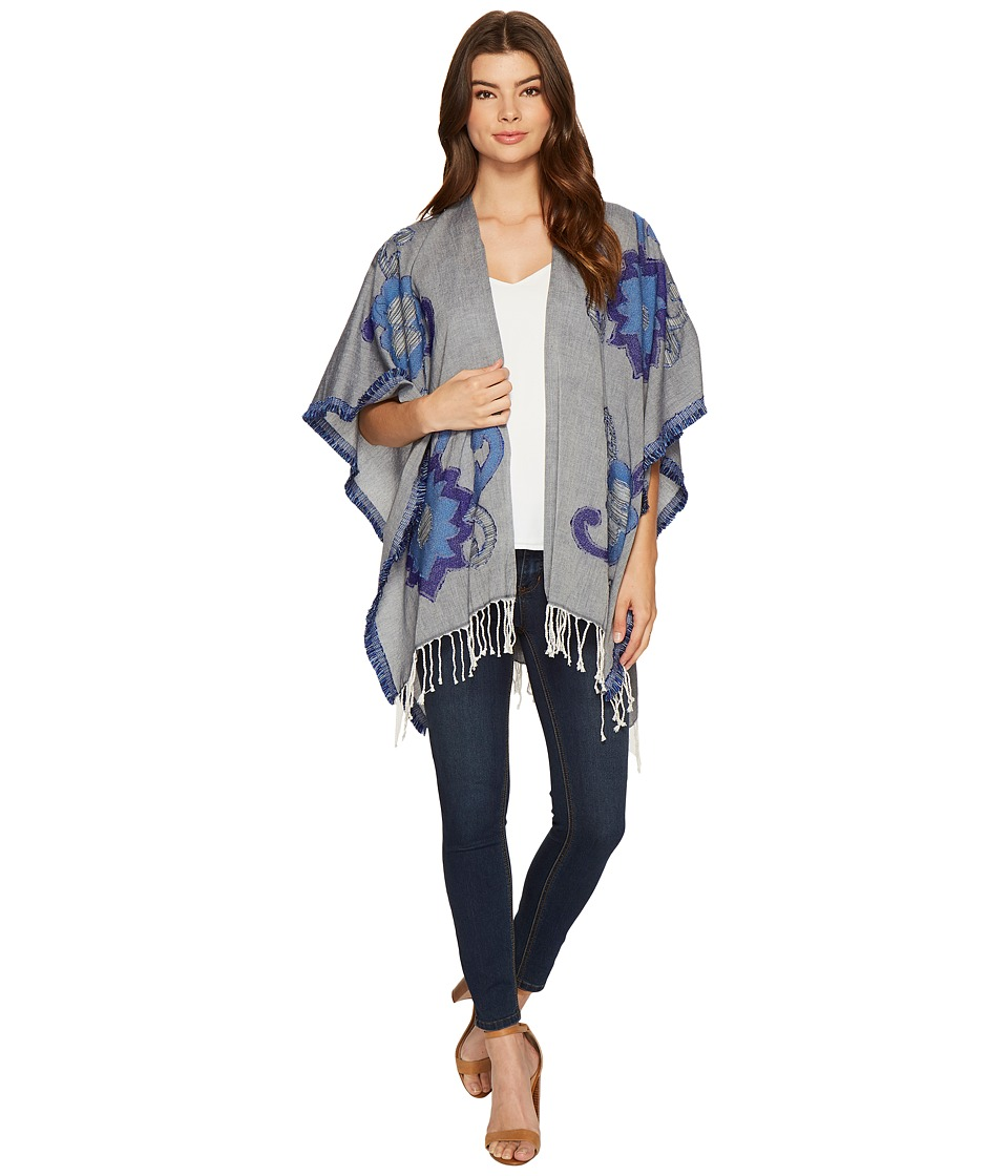 Echo Design - Rumba Ruana Poncho (Aqua Sky) Women's Clothing