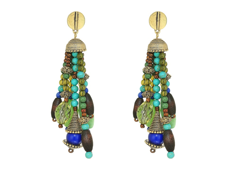 LAUREN Ralph Lauren - Beaded Tassel Earrings (Gold/Multi) Earring