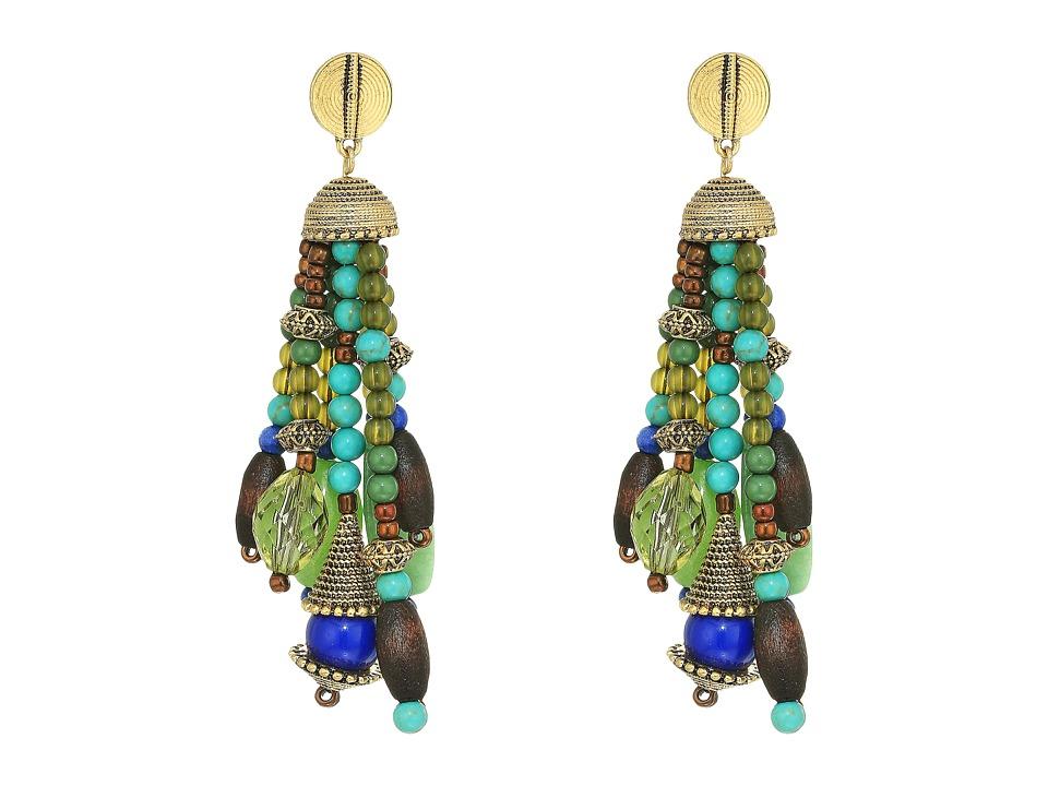 LAUREN Ralph Lauren - Beaded Tassel Earrings (Gold/Multi) Earring