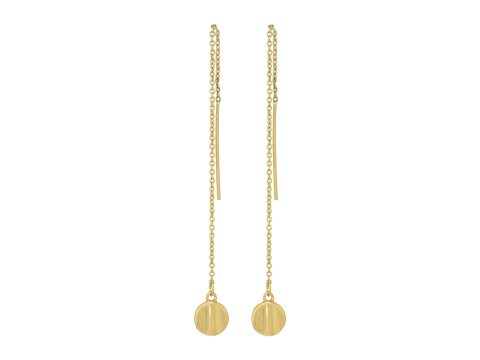 LAUREN Ralph Lauren - Linear Threader Drop French Wire Earrings (Gold) Earring