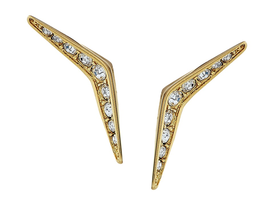 Michael Kors - Tone and Pave Stud Earrings (Gold) Earring
