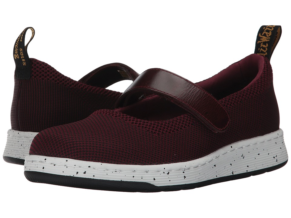 Dr. Martens Askins Knit Mary Jane Shoe (Oxblood/Black Kint Textile/Oxblood Brando) Women