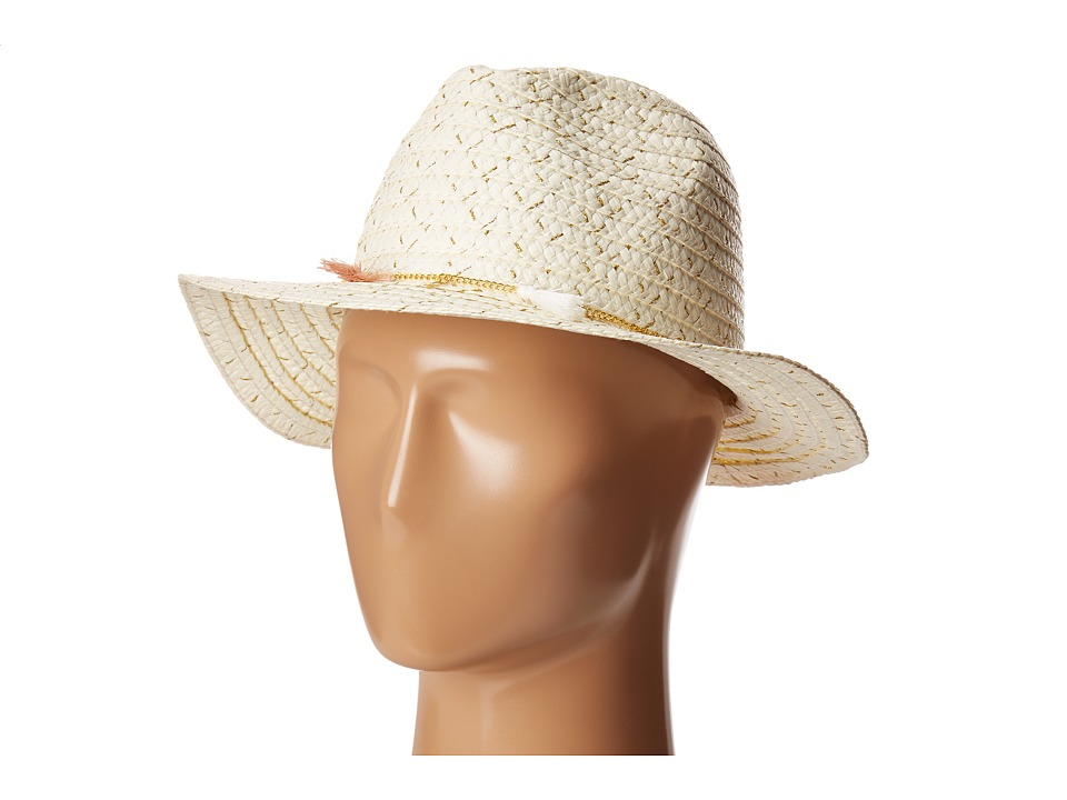 Steve Madden - Unchained Panama Hat (Ivory) Traditional Hats