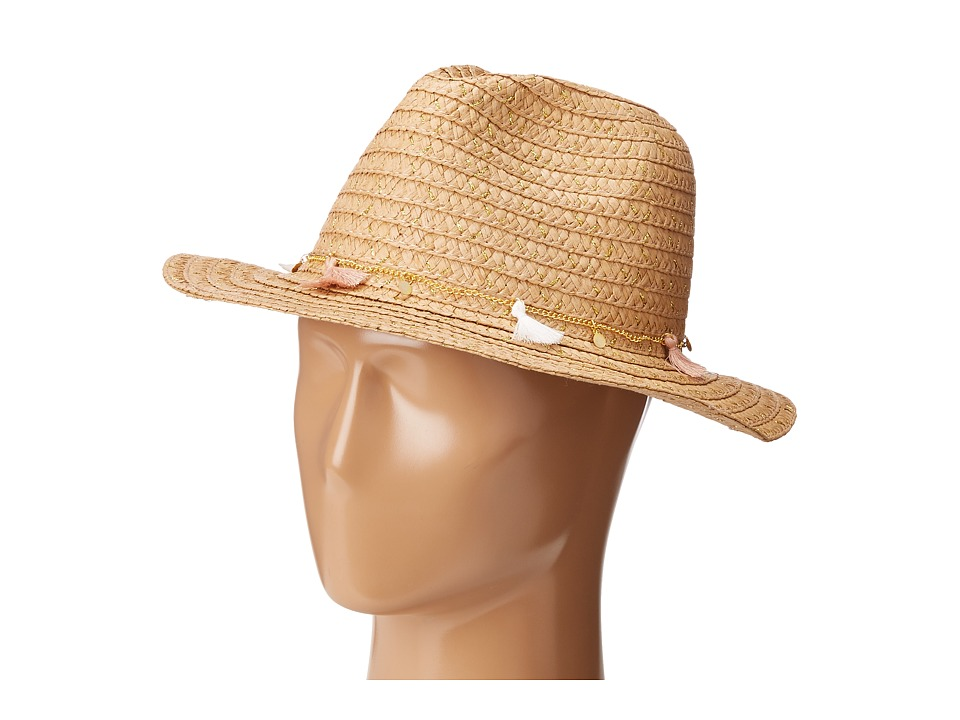 Steve Madden - Unchained Panama Hat (Tan) Traditional Hats