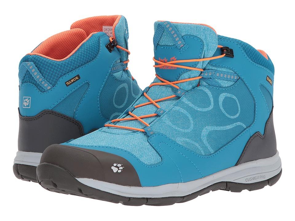 Jack Wolfskin Kids Grivla Waterproof Mid (Toddler/Little Kid/Big Kid) (Icy Lake Blue) Girls Shoes