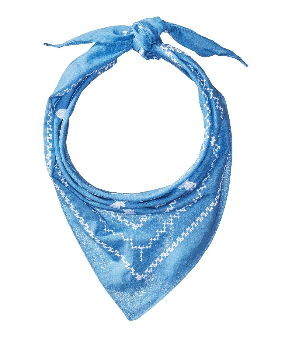 Steve Madden - Embroidered Pineapple Neckerchief (Denim) Scarves