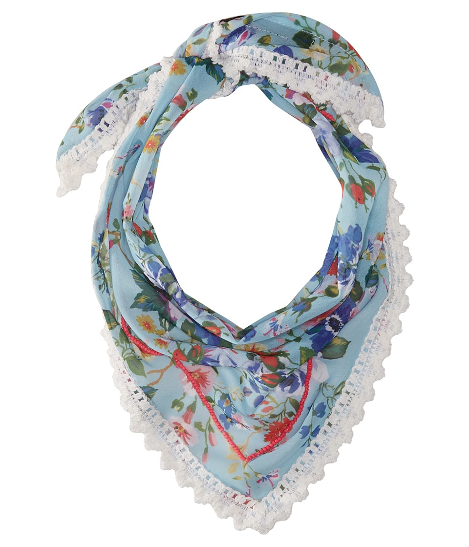 Steve Madden - Dolce Flora Triangle Neckerchief (Blue) Scarves