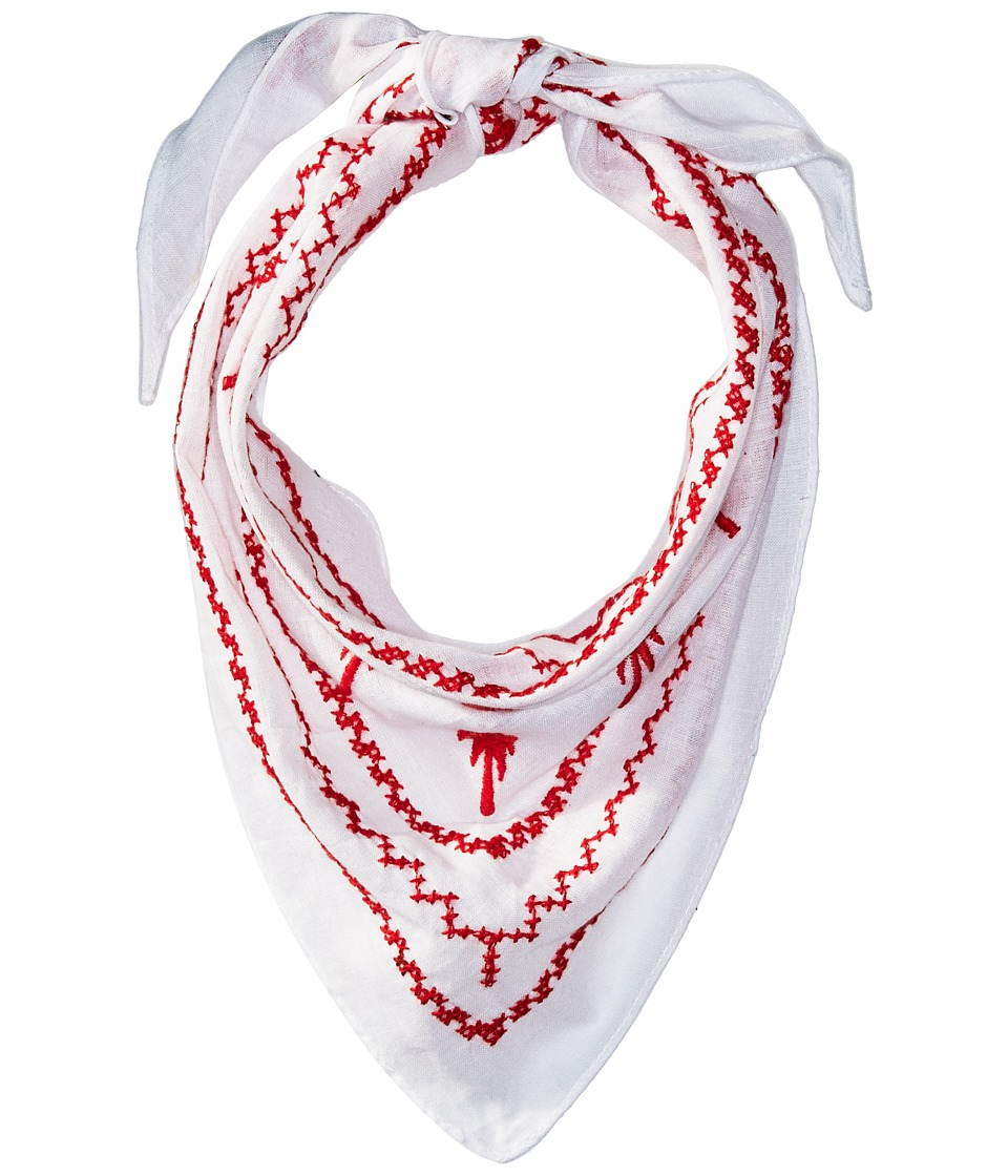 Steve Madden - Embroidered Palm Tree Neckerchief (Red) Scarves