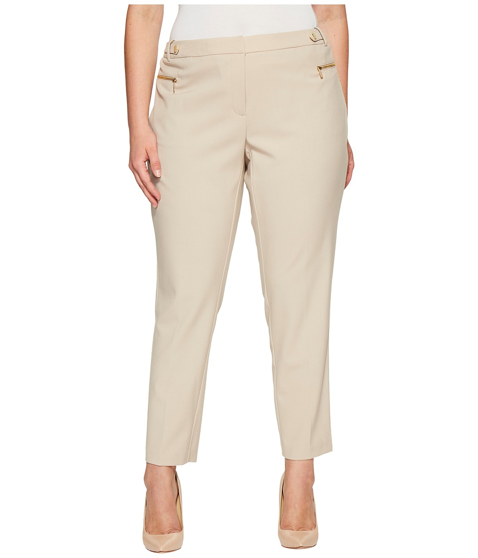 Calvin Klein Plus - Plus Size Straight Leg with Hardware (Latte) Women's Casual Pants