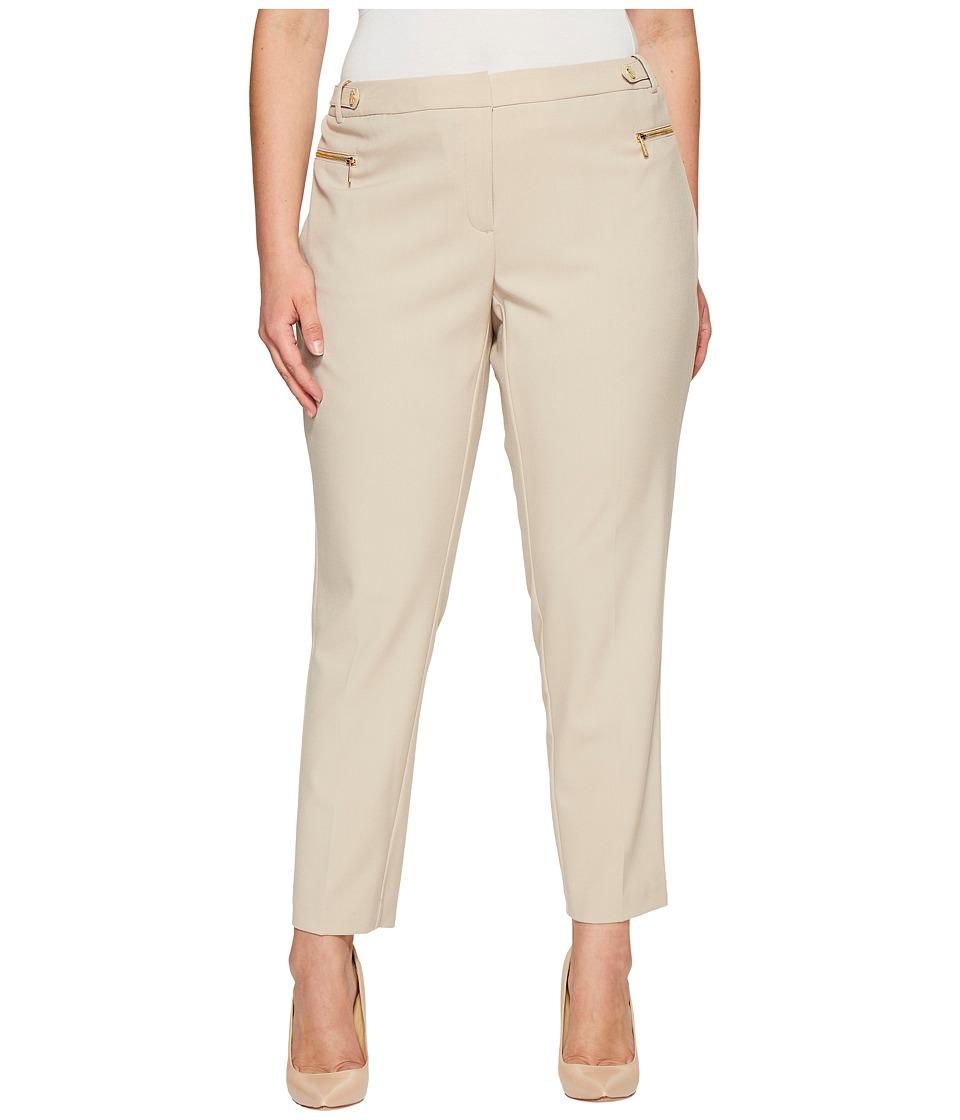 Calvin Klein Plus - Plus Size Straight Leg with Hardware (Latte) Women's Casual Pants