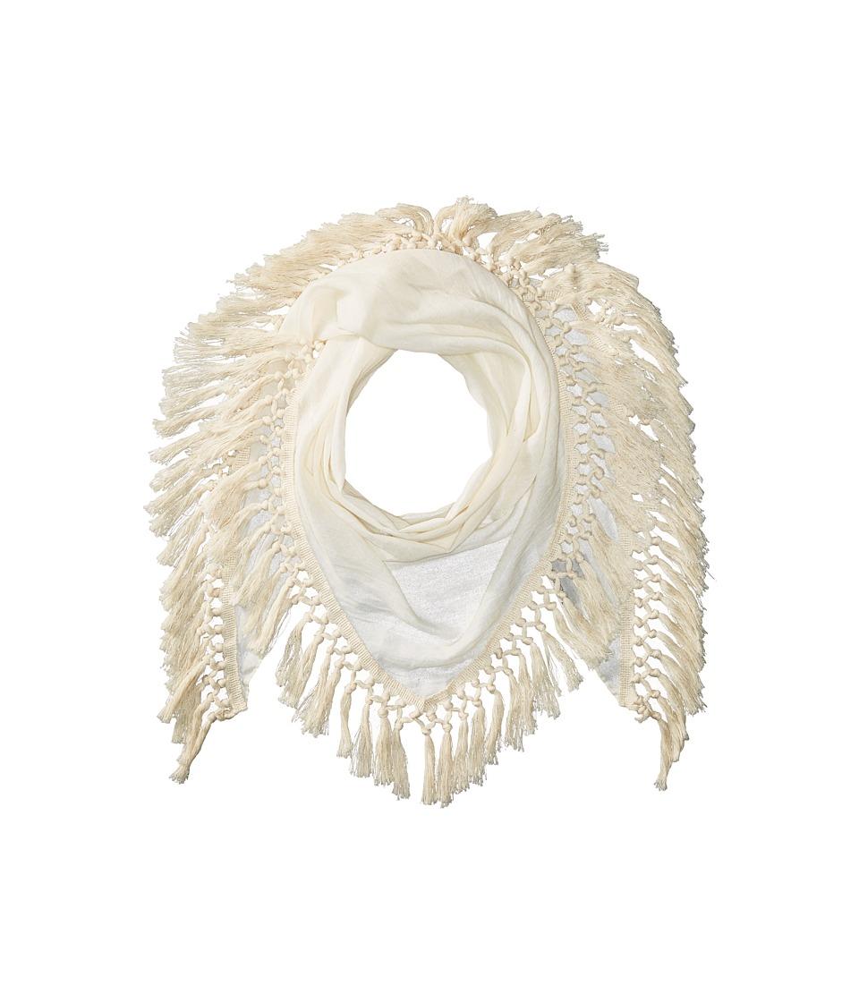 Steve Madden - Oversized Tassel Triangle Day Wrap (Ivory) Scarves