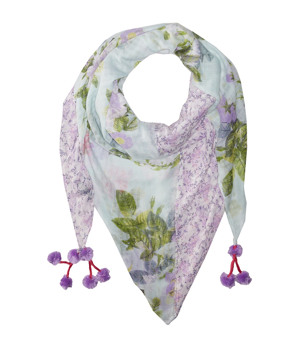 Steve Madden - Coco Floral Patched Day Wrap (Lavender) Scarves