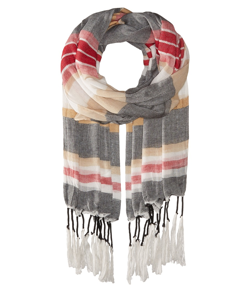 Steve Madden - Variegated Stripe Day Wrap (Red) Scarves