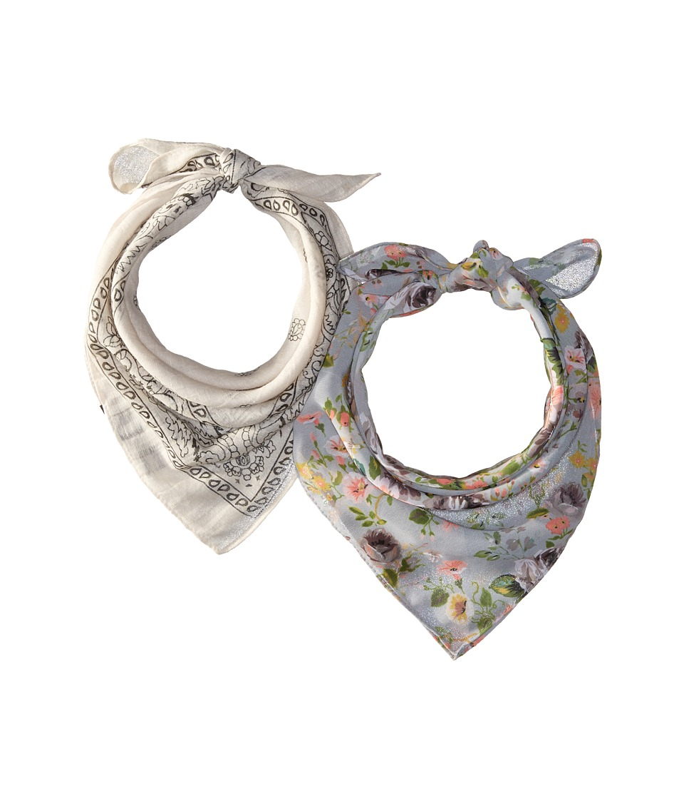 Steve Madden - Dolce Flora Light Contrast Bandana Set (Neutral) Scarves