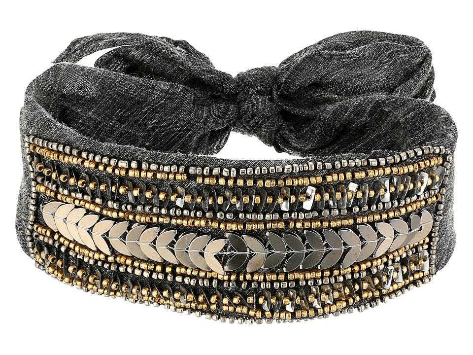 Steve Madden - Solid Bandana Choker (Black) Scarves