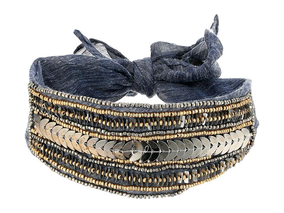 Steve Madden - Solid Bandana Choker (Navy) Scarves