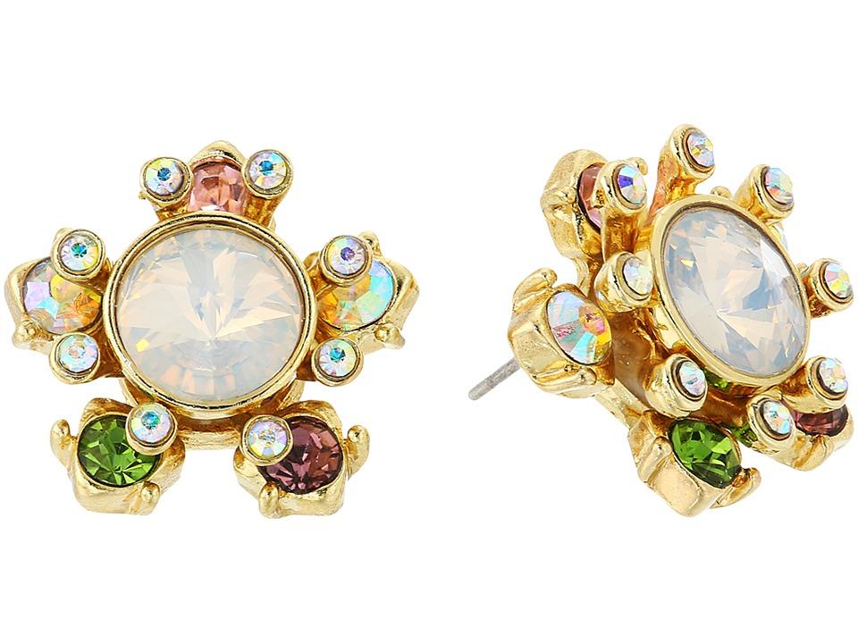 Betsey Johnson - Mixed Stone Star Stud Earrings (Multi) Earring